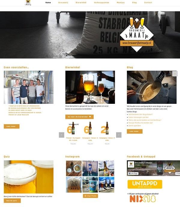 """De website van Brouwerij 't Maatje  """"brouwerijhetmaatje.nl"""""""