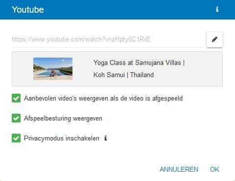 STRATO Sitebuilder: YouTube video's insluiten
