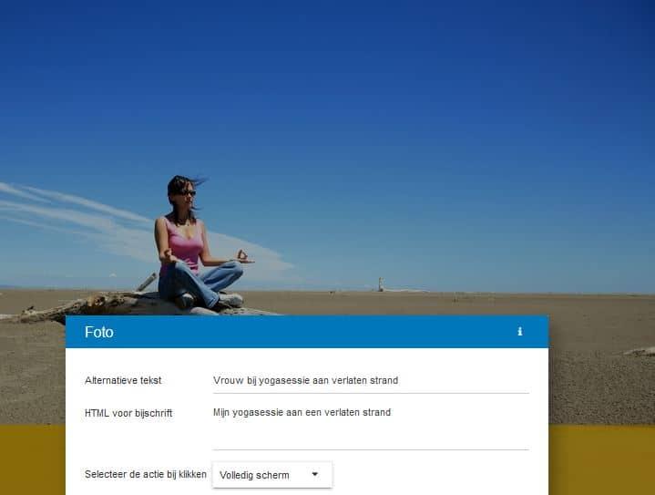 STRATO Sitebuilder: alternatieve tekst en bijschrijft voor afbeeldingen
