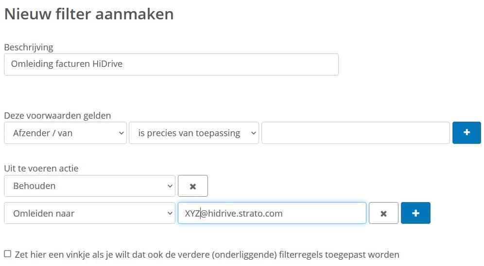 Automatische mailupload met filterregels: omleiding voor je facturen