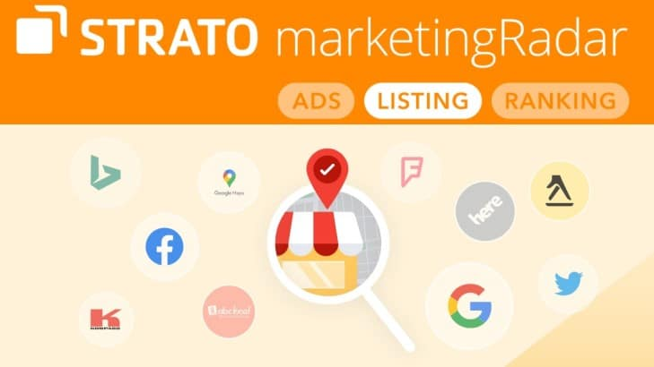 STRATO listingCoach: zichtbaar in online-directories