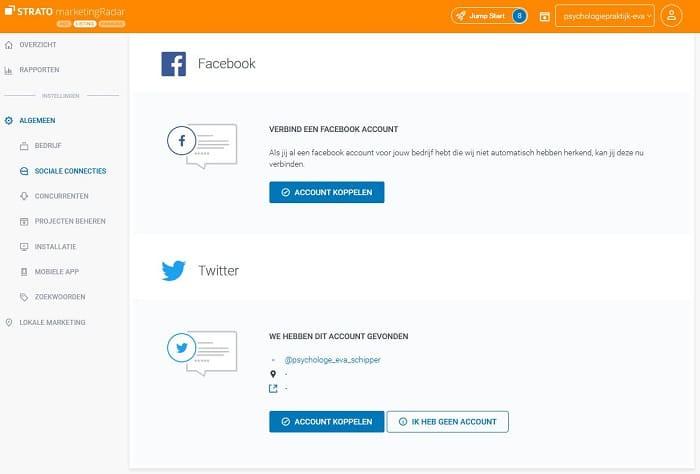 STRATO rankingCoach: Social Media